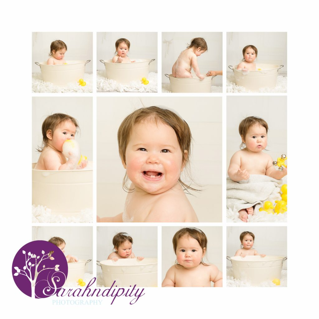 bath time clean up Cakesmash Essex grays portrait photography 1st birthday