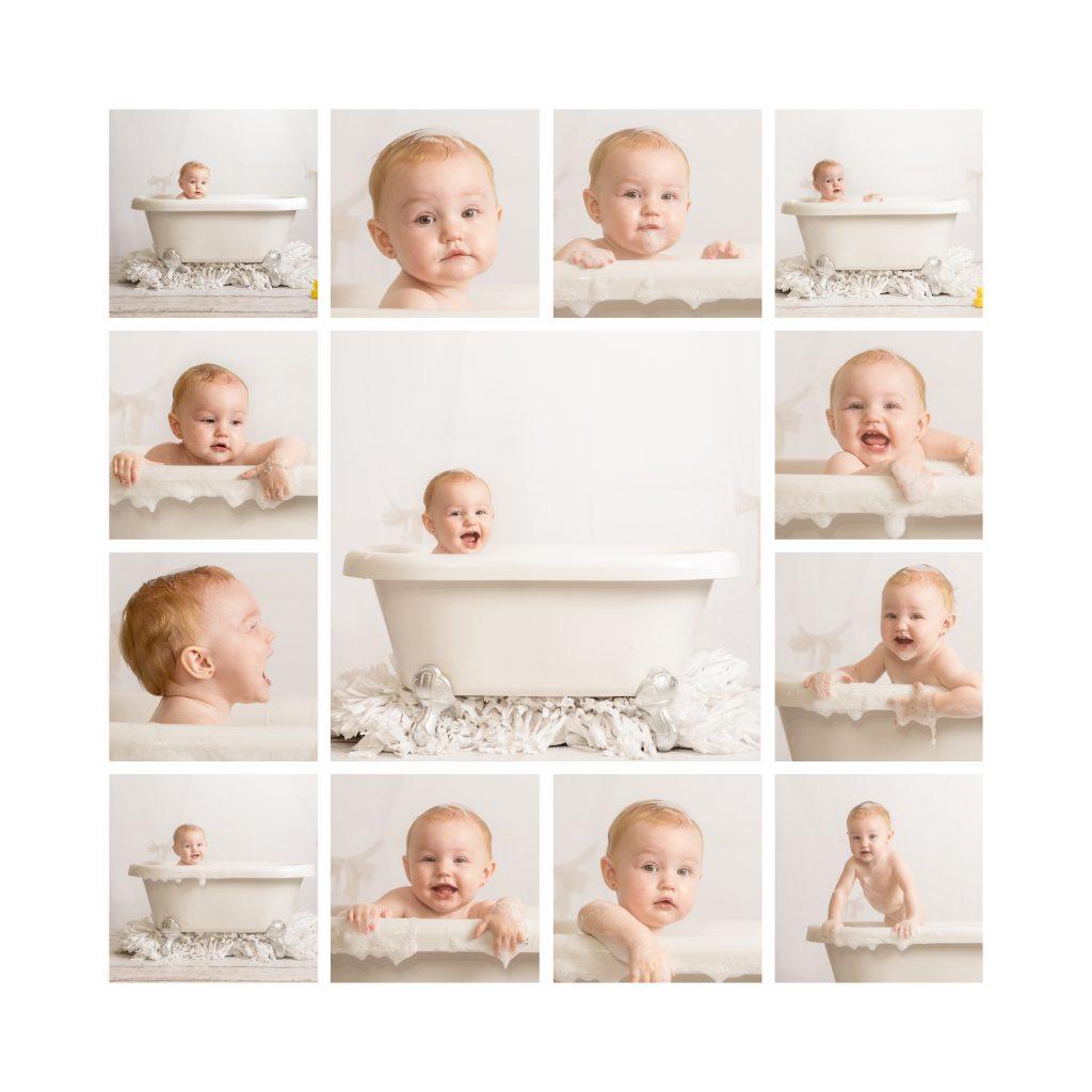 Bath Time Cake Smash Fun Essex Photographer