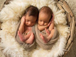 Newborn Session Essex Twins